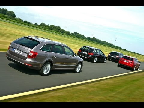 Skoda Superb vs. Mazda 6 vs. BMW 320d vs. Peugeot 508