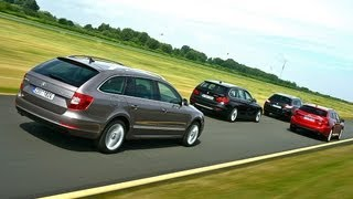 Skoda Superb vs. Mazda 6 vs. BMW 320d vs. Peugeot 508