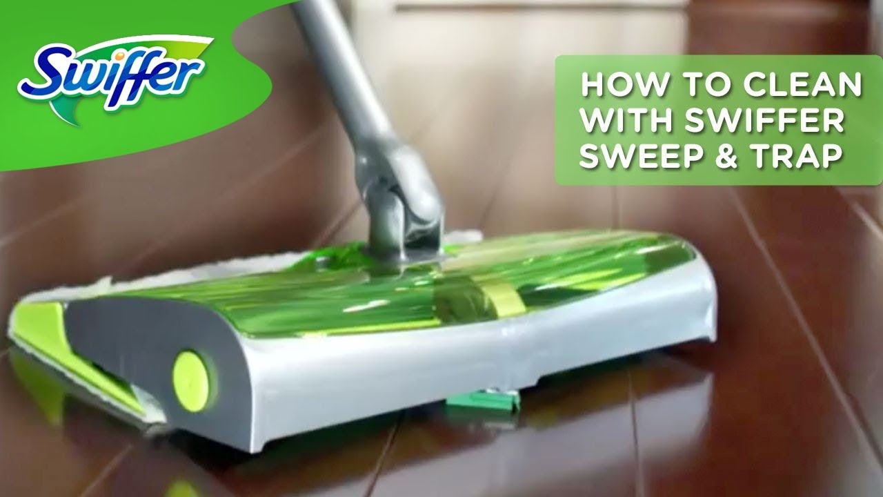 How Use And Assemble Swiffer Sweep Amp Trap Youtube