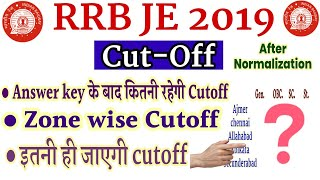 RRB JE cut off after answer key full analysis