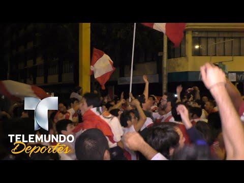 Perú al Mundial! Loca y descontrolada fiesta en Lima | Rumbo al Mundial 2018 | Telemundo Deportes