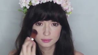 Róż -  łatwy i lekki makijaż
