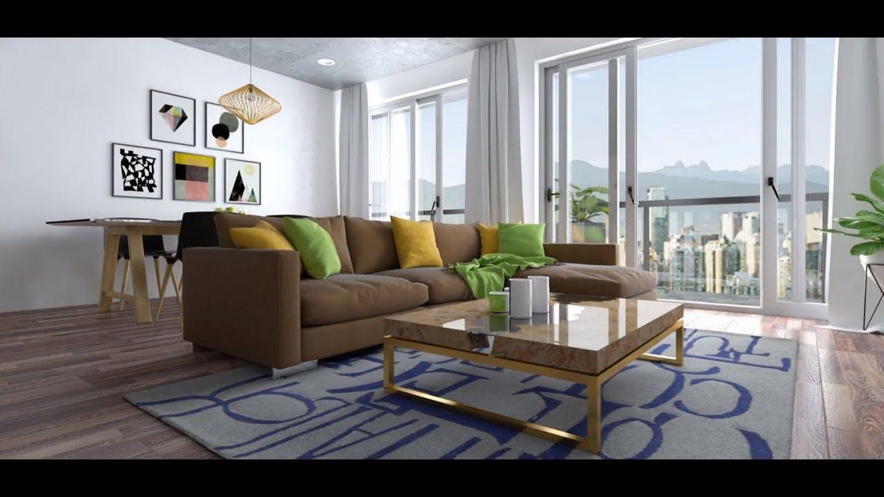 Sketchup Interior Design Apartment Vray 3 4 Youtube