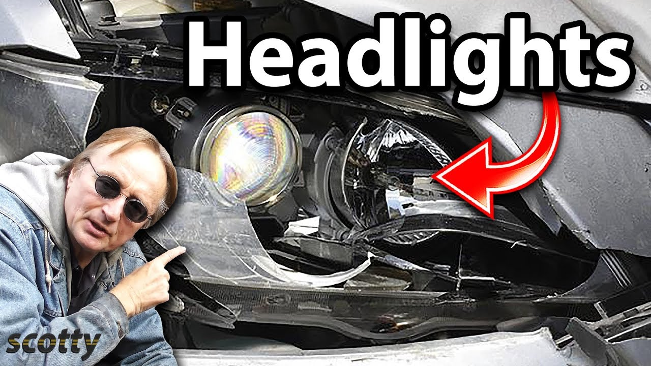 How To Replace Broken Headlight Assembly In Your Car Youtube 1996 Jaguar Xj6 Diagram