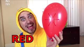 Aprende colores con globos! Nastya y papá se divierten jugando | pretend play una puerta de globos