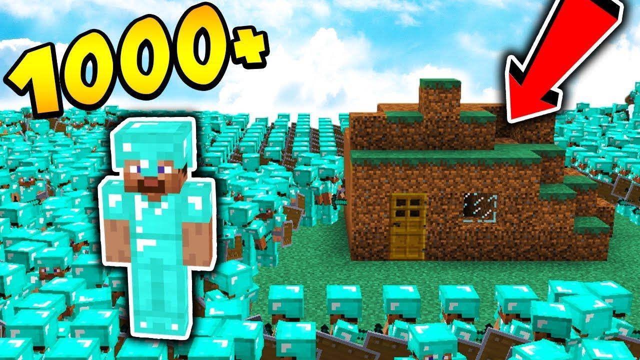 1000 PRO GRACZY vs BAZA Z DIRTA!!!! – MINECRAFT APOKALIPSA #27