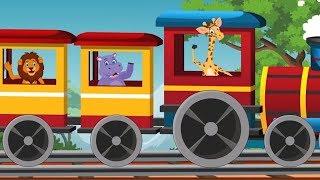 Junglee Janvaron Ki Rail | जानवरों की रेल | Wild Animals Train In HIndi | Hindi Balgeet And Poems