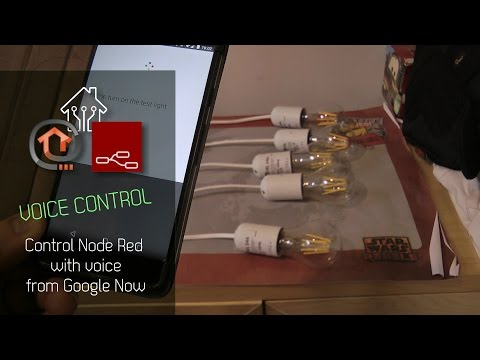 Control Node Red with voice from Google Now