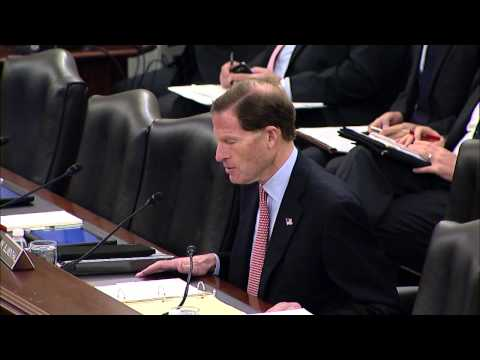 Senator Blumenthal Introduces Linda Spoonster Schwartz at Committee on Veterans Affairs
