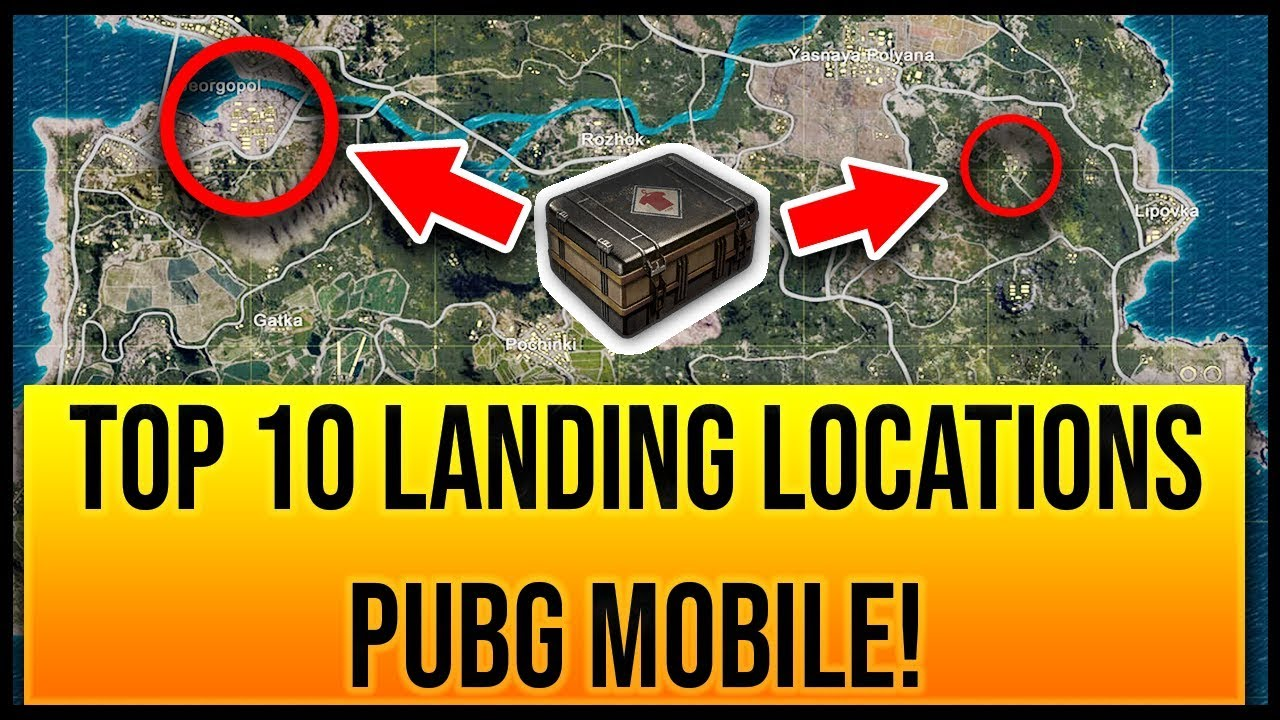 Top 10 Drop Locations In Pubg Mobile Youtube