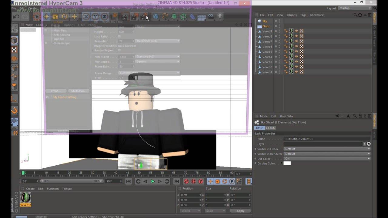 Bones Cinema 4d Roblox Download Roblox How To Render In Cinema4d By Fourherorocket Vexeogfx