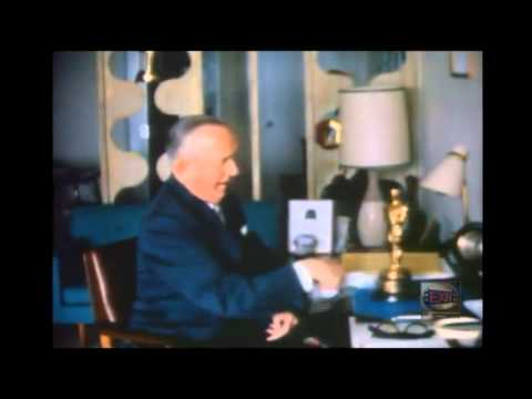 Exclusive and Rare High Quality Colour Footage Of Stan Laurel At Home With His Oscar