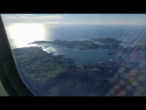 Flight over Dunedin and Otago Harbour