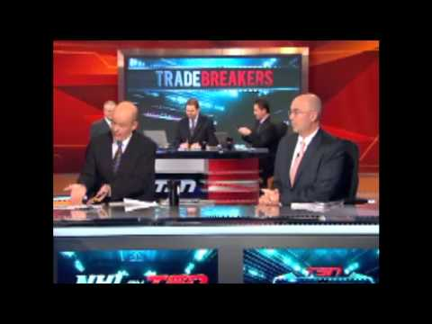 Pierre Mcguire and Darren Pang arguing on Tsn Tradecenter