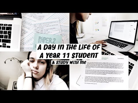 A [REALISTIC] Day In The Life Of A Year 11 Student (+ Study With Me!)