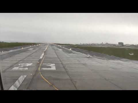 Take off from Auckland on Qatar Airways Boeing 777-200LR to Doha