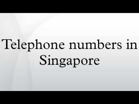 Telephone numbers in Singapore