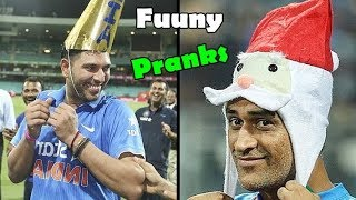 Best & Funny Pranks By Famous Cricketers - Ms Dhoni, Virat Kohli