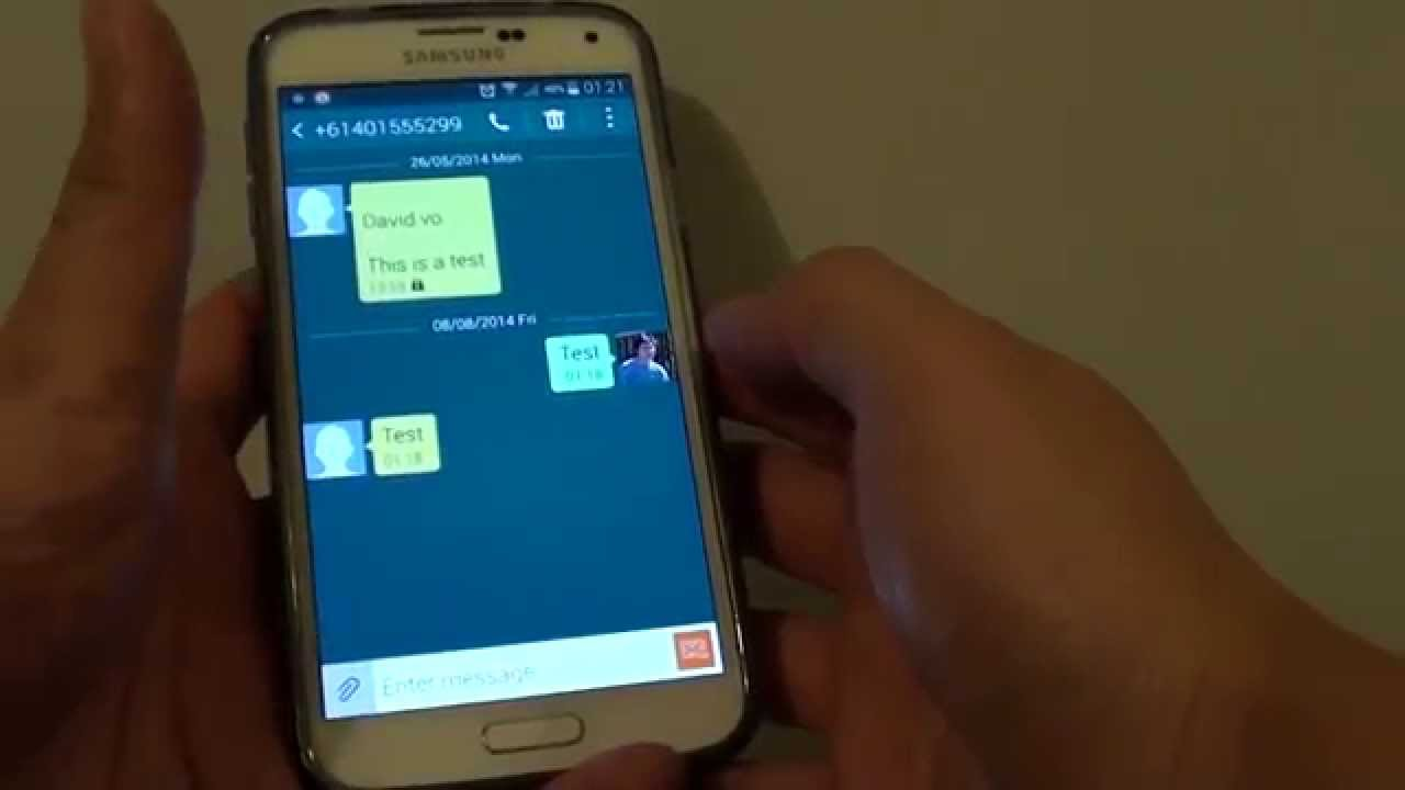 Samsung Galaxy S5: How to Change or Remove Messages Picture (G+ / Google+)