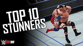 Top 10 Awesome STUNNERS In WWE 2K18