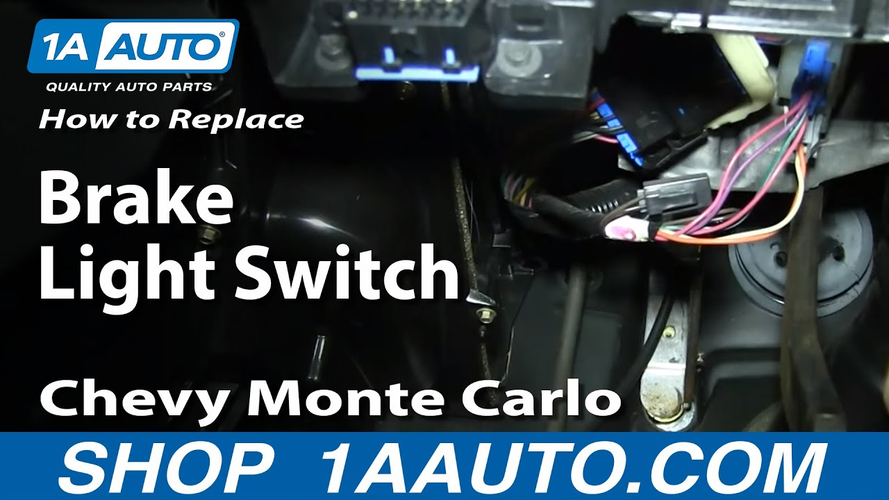 how to install replace fix brake light switch 2000 05 chevy monte carlo [ 1280 x 720 Pixel ]