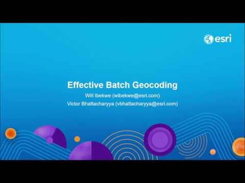 Effective Batch Geocoding