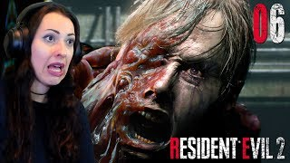 RESIDENT EVIL 2 Remake Walkthrough Part 6 - William Birkin Boss Fight (ROUND 2)
