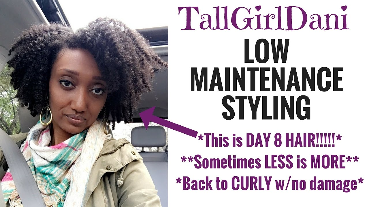 Low Maintenance Styling | 4c Natural Hair - YouTube