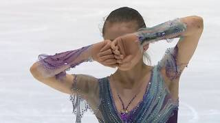 Фигурное катание Чемпионат мира 2020 среди юниоров Девушки Произвольная программа Камилы Валиевой
