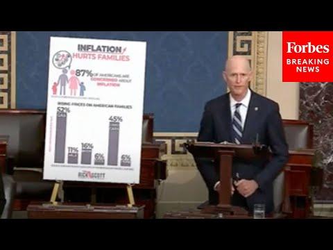 'Enough Is Enough': Rick Scott Blames Biden, Democrats For Inflation