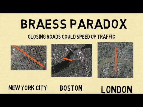 How Closing Roads Could Speed Up Traffic - The Braess Paradox - 동영상