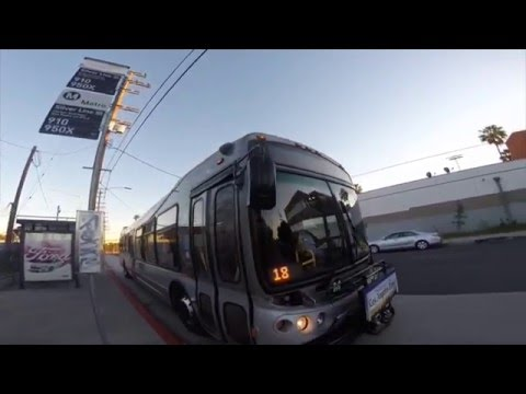 San Pedro to Downtown Los Angeles on the Metro Silver Line