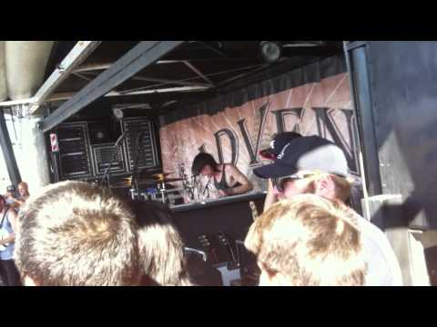 Backstage Woe, Is Me w/Tyler Carter Warped Tour 2011