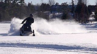 540 Monster Ski-doo Elan on the ice.  PowerModz!
