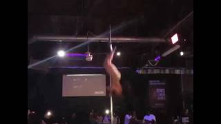Maria Jade The Massacre Doing a flip off the pole