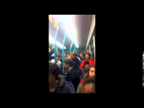University jocks sing a sick and ist song on crowded bus
