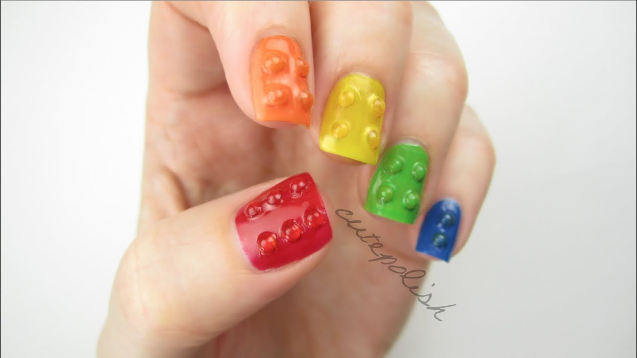 3d lego nails