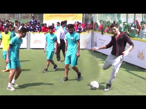 Sidharth Malhotra Playing Football With Slum Children