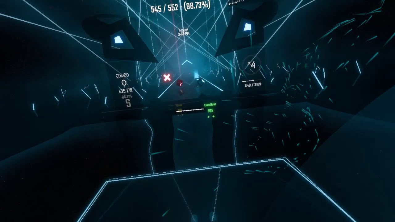 [Beat Saber] quick test between camera plus mod and built-in smooth camera