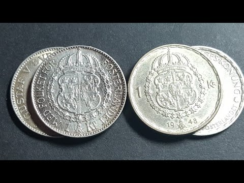 Best Swedish coins the Sweden silver 1 krona