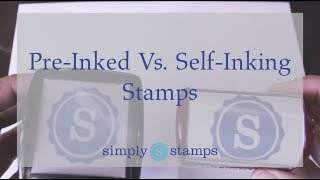 How to Choose between Pre-Inked & Self-Inking Logo Stamps