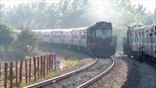 INDIAN RAILWAYS- Fastest Bangalore Hubli Train Janshatabdi Rushes Past Led By KJM ALCO
