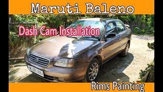 Maruti Suzuki Baleno Rims Restoring|| Dash Cam Installation|| Xiaomi 70Mai Car DVR