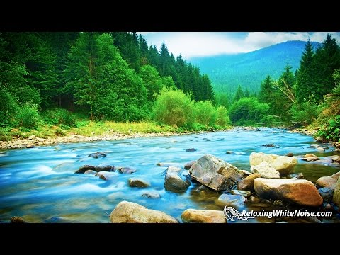 River Relaxation Sounds White Noise | Soothing Nature Audio for Studying, Sleep | 10 Hours