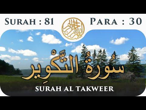 81 Surah Al Takwir  | Para 30 | Visual Quran with Urdu Translation