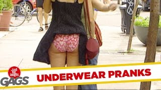 Repeat youtube video Pranking in Underwear - Best of Just For Laughs Gags