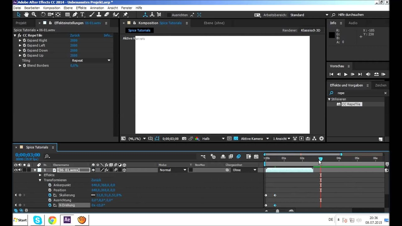 after effects 3d multiscreen tutorial youtube