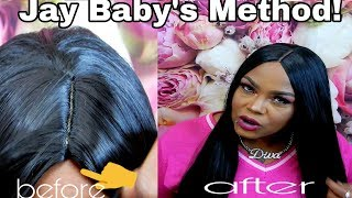 JAY BABYS METHOD ON HOW TO FIX A HUMP & MAKE A SYNTHETIC WIG LOOK MORE NATURAL #jaybabysmethod