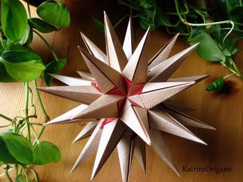 Origami revealed flower popup star origami estrellamar kusudama mightylinksfo
