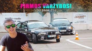 MANO PIRMOS STREET DRIFT VARŽYBOS! | VLOGAS